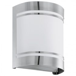 Eglo kültéri fali E27 1x40W nemesacél/opál IP44 Cerno
