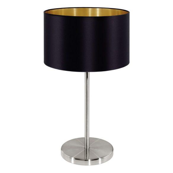 Eglo textil asztali E27 60W fekete Maserlo