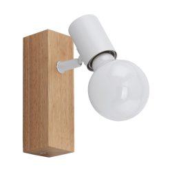 Eglo fali lámpa E27 1x10W tölgy/fehér Townshend