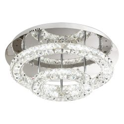 Eglo kristály mennyezeti LED 36W 55cm Toneria