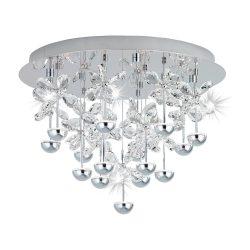 Eglo LED mennyezeti 15x1,8W króm/krist Pianopoli