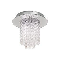 Eglo LED mennyezeti 10x4,3W króm/kristály Vilalones