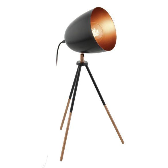 Eglo asztali E27 60W 44cm fekete/rézChester