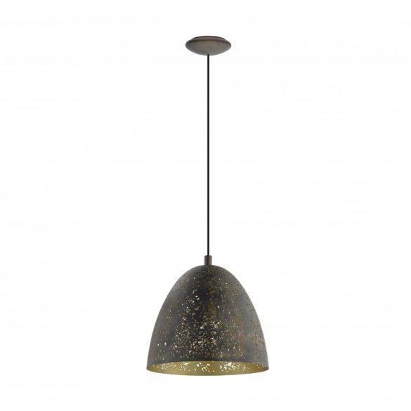 Eglo függeszték E27 1x60W 27,5cm barna/arany Safi
