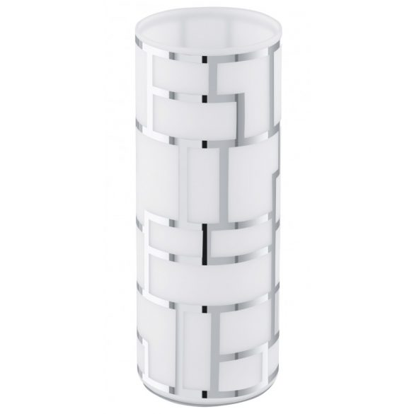 Eglo asztali E27 1x60W fehér/króm Bayman