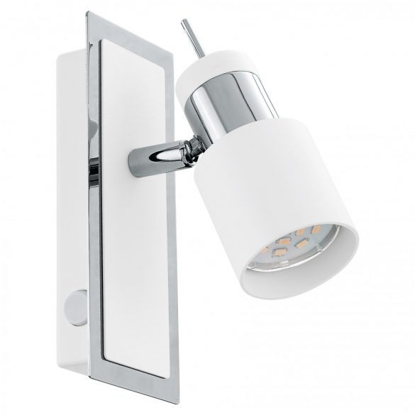 Eglo LED fali GU10 1x5W króm/fehér Davida