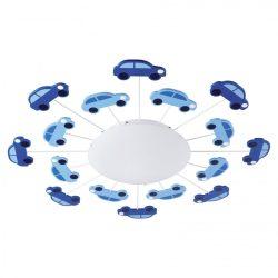 Eglo fali/mennyezeti E27 1x60W kék autó Viki1