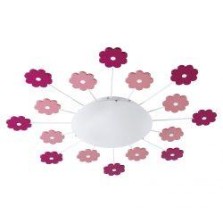 Eglo fali/mennyezeti E27 1x60W rózsasz. virág Viki1