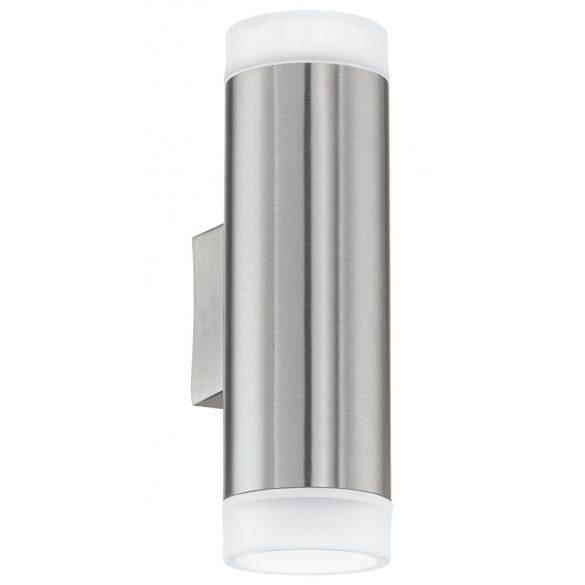 Eglo kültéri LED fali GU10 2x3W IP44 nemes acél RIGA-LED