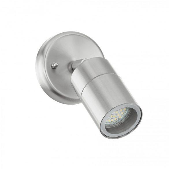 Eglo kültéri LED fali GU10 1x50W d:6,5cm nemesacél, üveg IP44 Stockholm 1