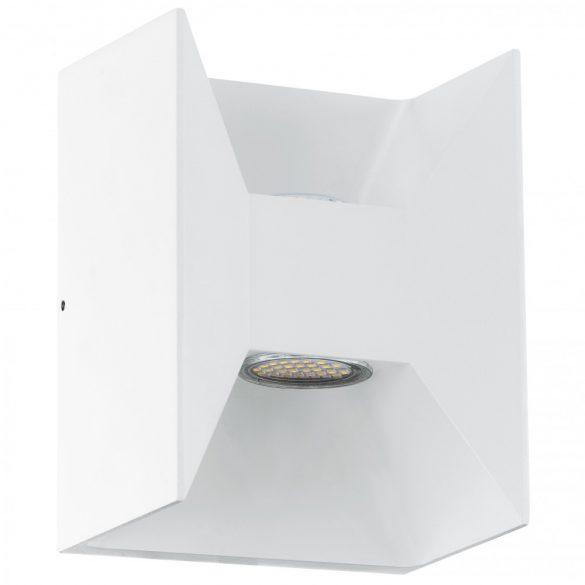Eglo kültéri LED fali 2x2,5W 360lm 14*18*10,5cm alumínium öntvény fehér IP44 Morino