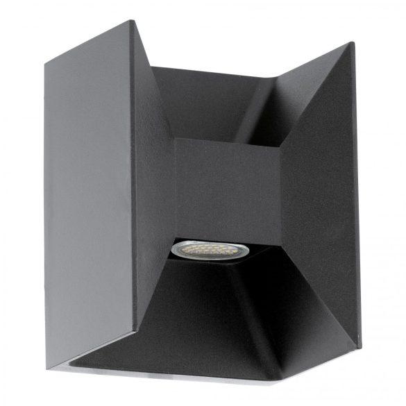 Eglo kültéri LED fali 2x2,5W 360lm 14*18*10,5cm alumínium öntvény antracit IP44 Morino