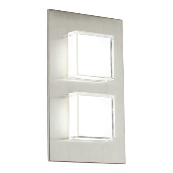 Eglo kültéri LED fali 2x2,5W 320lm 15*25*5,5cm nemesacél IP44 Pias