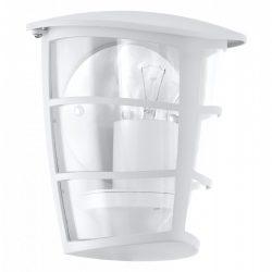 Eglo kültéri fali E27 1x60W 18*20*12cm alumínium öntvény fehér, átlátszó műanyag IP44 Aloria