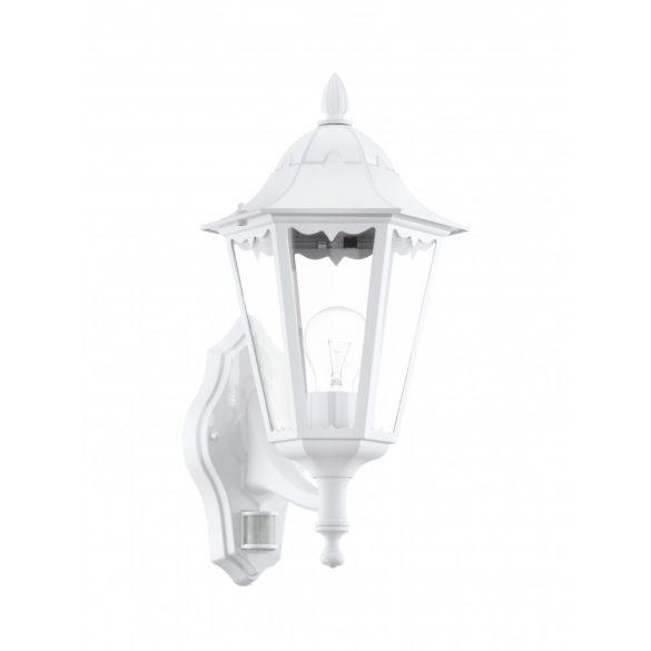 Eglo kültéri fali fel szenzoros E27 1x60W 20*42,5*28,5cm alumínium öntvény fehér, átlátszó üveg IP44 Navedo
