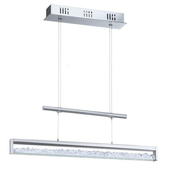Eglo LED függeszték 4x6W króm/kristály fényerőszabályzós  Cardito1