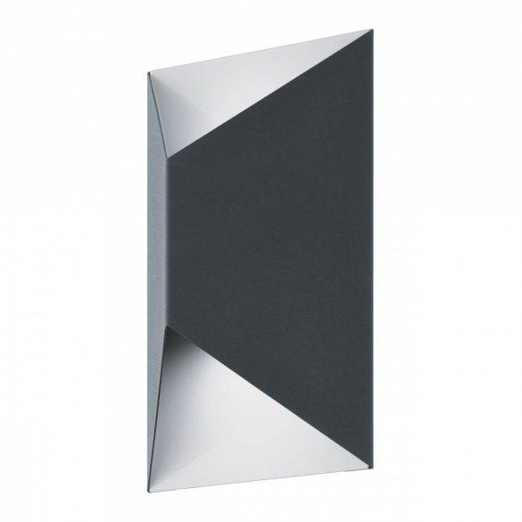 Eglo kültéri LED  fali 2x2,5W IP44 antracit/fehér Predazzo