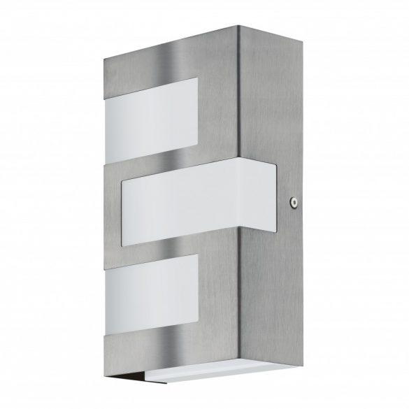 Eglo kültéri LED  fali 3x2,5W IP44 nemes acél/fehér Ralora