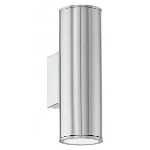 Eglo kültéri LED  fali GU10 2x3W IP44 nemes acél Riga