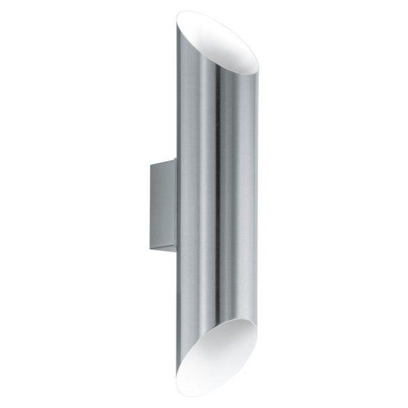 Eglo kültéri LED fali 2x3,7W nemesacél/fehér Agolada