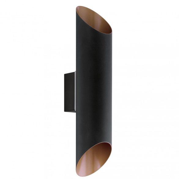 Eglo kültéri LED fali 2x3,7W fekete/réz Agolada