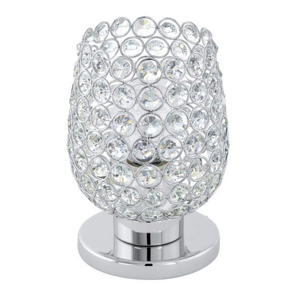 Eglo asztali E27 60W króm/kristály Bonares