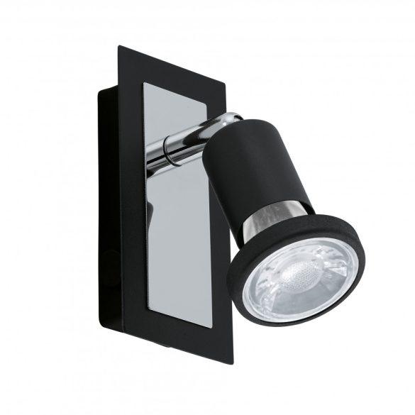 Eglo LED fali GU10 1x5W fekete/króm Sarria