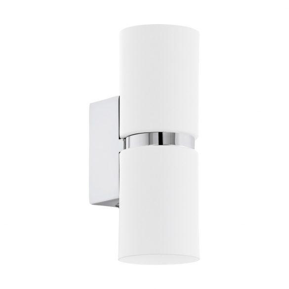 Eglo LED fali GU10 2x3,3W króm/fehér Passa