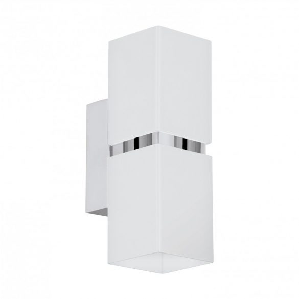 Eglo LED fali GU10 2x3,3W szögl króm/fhér Passa