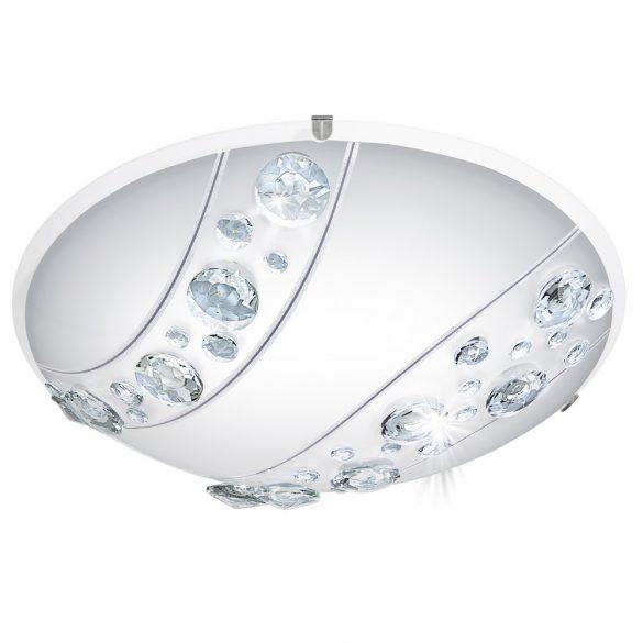 Eglo LED mennyezeti 16W fehér/kristály Nerini