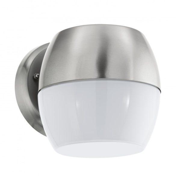 Eglo kültéri LED  fali 11W IP44 nemesacél/fehér Oncala