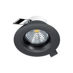 Eglo LED beépíthető 6W 2700K 8,8cm fix fek SALICETO