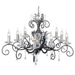 ELSTEAD Amarilli 10Lt csillár fekete/ezüstszínű