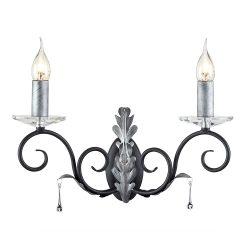 ELSTEAD Amarilli 2Lt fali lámpa fekete/ezüstszínű