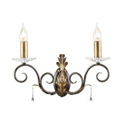 ELSTEAD Amarilli 2Lt fali lámpa sötétbronz/arany
