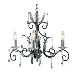 ELSTEAD Amarilli 3Lt csillár fekete/ezüstszínű