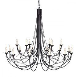 ELSTEAD Carisbrooke 18Lt csillár fekete   (CSAK lámpaVÁZ, AZ ÜVEGBURÁT KÜLÖN KELL RENDELNI HOZZÁ)
