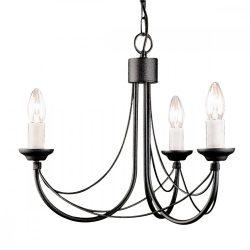 ELSTEAD Carisbrooke 3Lt csillár fekete   (CSAK lámpaVÁZ, AZ ÜVEGBURÁT KÜLÖN KELL RENDELNI HOZZÁ)