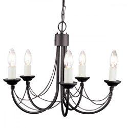 ELSTEAD Carisbrooke 5Lt csillár fekete   (CSAK lámpaVÁZ, AZ ÜVEGBURÁT KÜLÖN KELL RENDELNI HOZZÁ)