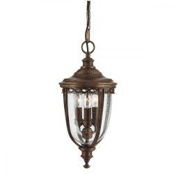 ELSTEAD English Bridle 3Lt (közepes méretű) függeszték lámpa sötétbronz