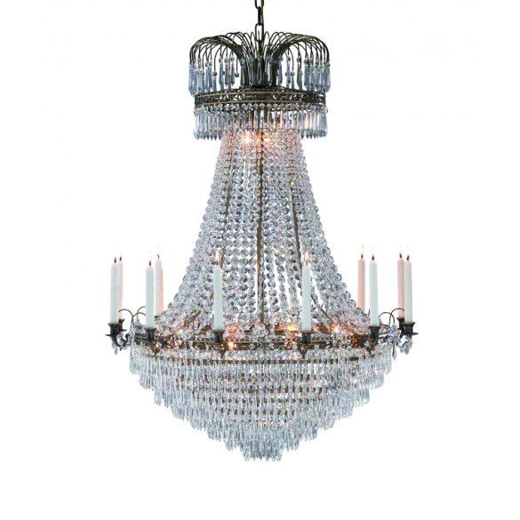 MARKSLÖJD LACKÖ csillár 15L antik/kristály